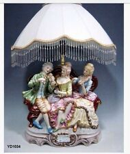 Capodimonte Style  Sofa Lamp Figurine with Shade
