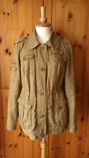 RIVER ISLAND UK10 quilted lining military beige cotton uilitiy jacket PARKA