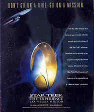 "2000 RARE ""STAR TREK - THE EXPERIENCE at the LAS VEGAS HILTON"" PR AD"