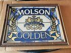 "MOLSON GOLDEN CANADA MIRROR SIGN L18""X W14"" VERY GOOD"