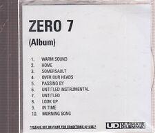 zero 7 s/t cd promo
