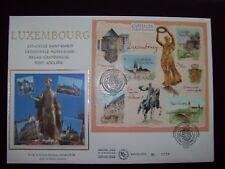 2003_ENVELOPPE 1er JOUR NUM_FDC_SOIE_GF BLOC CAPITALES EUROPEENNES : LUXEMBOURG.