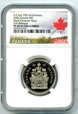 2020 CANADA 50 CENT V-E-DAY VE-DAY PROOF NGC PF69 HALF DOLLAR FIRST RELEASES