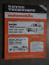 REVUE TECHNIQUE AUTOMOBILE RTA MAZDA 323 CITROEN VISA TALBAT HORIZON 1983