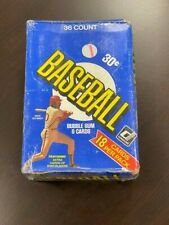 1981 Donruss Baseball Wax Box 36 Packs First Edition Cello wrapped & unopened