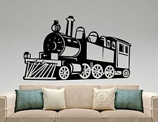 Train Wall Sticker Retro Locomotive Transport Vinyl Decal Art Nursery Decor 11t