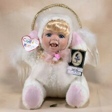 "Geppeddo Plush Cuddle Kids Porcelain Doll Angelle Angel 9"" New With Tags and Box"