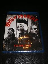 Sons of Anarchy: Season 4 (Blu-ray Disc, 2012, 3-Disc Set) - SHRINK WRAPPED!!!
