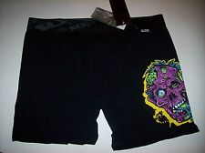 SLY Underwear Mens Boxer Brief Sz XL 36-38 Black Purple Play Harder Dead NWT