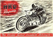 The Vincent HRD Motorcycle Advert POSTER