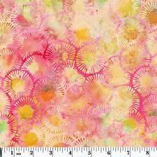 Hoffman Batiks Bali Chop Floral Macaron Priced per ½ yd K2490-608