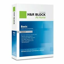 H & R Block At Home Basic Federal + 5 Free E-File 2012 new seal Retail Package