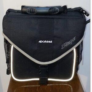 "NWT!! Brand New Adorama Slinger Camera Sling Bag Backpack - Black 10""x10""x4"""