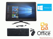 "HP Desktop 21.5"" All-In-One Computer AMD A6 4GB RAM 1TB HDD Windows 10 Pro Black"