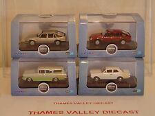 OXFORD DIECAST COLLECTION OF 4 VAUXHALL SALOON & ESTATE CARS