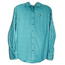 Peter Millar Ladies SMALL Womens MASTERS Gingham Plaid Tab Sleeve Golf Shirt