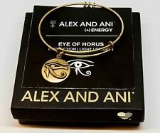 Authentic Alex and Ani Eye of Horus (iii) Rafaelian GOLD Charm Bangle NEW GIFT