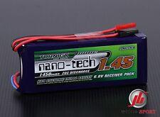 Nano-tecnología 1450mah 2s 6,6 / 20 ~ 40c vida Receptor Batería Pack