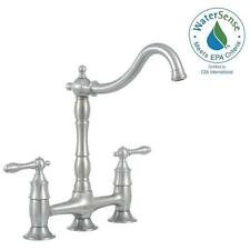 Lyndhurst 852N-05508 Bridge Side Sprayer Kitchen Faucet in Stainless Steel