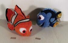 """8"""" NEMO + 7"""" DORY FISH -- 2 X FINDING NEMO Blanda Juguete"""