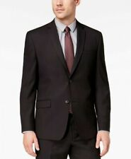 Andrew Marc Men's Classic-Fit Stretch Black Micro-Grid Suit Jacket 42R