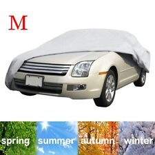 Large Full Car Cover UV Protection Waterproof Breathable M In/Outdoor Universal