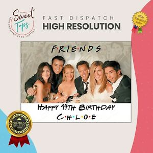 FRIENDS RECTANGLE EDIBLE CAKE TOPPER DECORATION PERSONALISED