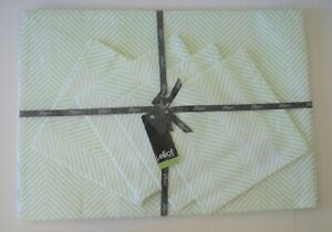 Cotton Placemat & Napkins - Herringbone - Mint/ Pale Green- Great Teacher's Gift