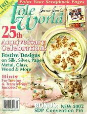 Tole World Magazine June 2002 Tole How To Patterns for Decorative Woodcrafts
