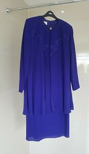 CONDICI - Ladies Stunning Purple Dress/Jacket Mother of the Bride -  Size 20