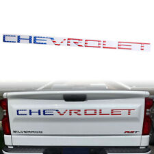 US Flag Logo CHEVROLET Tailgate Insert Emblem for Silverado 1500 2500 3500 2019+