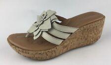 Born Womens Flip Flops Sandals Wedge Heels Sz US 7