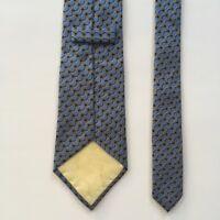 turnbull asser tie blue gold 100% silk hand made in england necktie pa0520