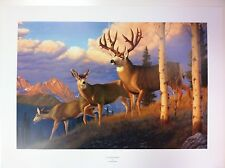 "Mule Deer Print ""Clear Passage"" by Tom Mansanarez Print 24x16"