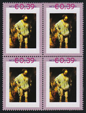 Persoonlijke zegels Rembrandt BLOK van 4 2420-A-7 SCHAARS Badende Vrouw