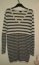 H&M Striped Long Sleeve V Neck Women's Jumpers & Cardigans