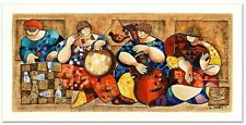 """Dorit Levi """"Chess Players"""" Limited Edition Serigraph/Hand Signed/COA/List $380"""