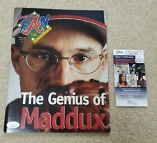 Greg Maddux Signed Magazine Atlanta Braves Fan 98 Jsa Coa