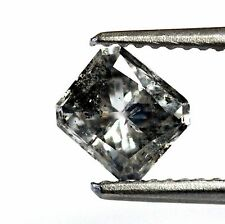 1.01ct loose radiant cut diamond I3 I Fancy Gray estate 5.84x5.29x3.79mm vintage