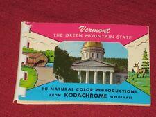 Vintage Vermont Multi Photo Souvenir Booklet/Post Card - Ten Photos