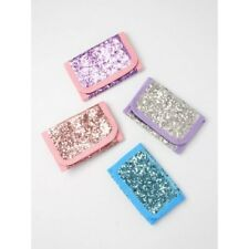 Pack of 4 Small Silver Glitter Purse Wallet Stocking Fillers Girls Present