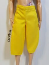 NEW YELLOW CROP PANTS BOTTOM BARBIE FASHIONISTAS CLOTHES FASHION MODERN