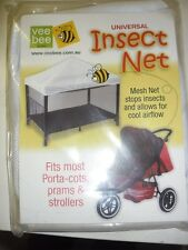 New Vee Bee White Insect Universal Net Pram Stroller Buggy Porta Cot