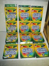 CRAYOLA WASHABLE MARKERS 8ct CLASSIC COLORS BROAD LINE 58-7808