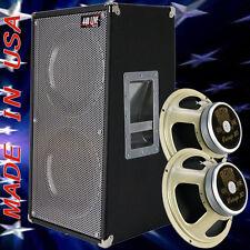 2x12 Vertical Guitar Spkr Cab Bronco Black tolex W/Celestion Vintage 30 Spkrs