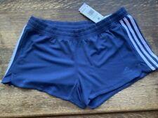 NWT adidas Pacer 3-Stripes Knit Shorts Women's, Size M, Indigo/White, Running