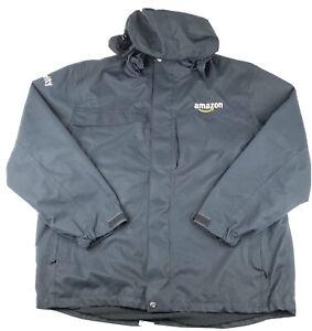 Amazon Security Mens Employee Work Hooded Fleece Lined Jacket Size 2XL Black