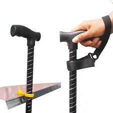 Walking Stick Wrist Strap Carry Strap & Cane Crutch Desk Clip Holder Grip Aid