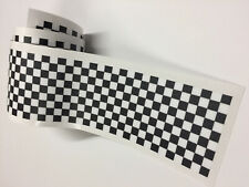 CHEQUERED Flag STRIPES Tape Decal / Sticker Scooter Lambretta Vespa bike 004