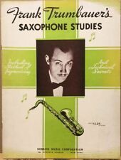 Frank Trumbauer's Saxophone Studies~1st Ed.~Vintage 1935 Music Instruction~Jazz